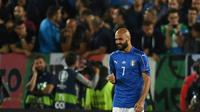 Striker tim nasional Italia, Simone Zaza. (AFP/Patrik Stollarz)