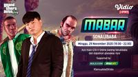 Main bareng GTA V Roleplay bersama Sonalibaba, Minggu (29/11/2020) pukul 19.00 WIB dapat disaksikan melalui platform Vidio, laman Bola.com, dan Bola.net. (Sumber: Vidio)