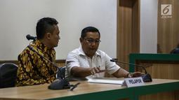 Perwakilan BPN Prabowo Subianto-Sandiaga menghadiri sidang  terkait dugaan kecurangan Pilpres 2019 di Gedung Bawaslu RI, Jakarta, Senin (20/5/2019). Laporan menolak laporan dugaan pelanggaran administratif Pemilu karena bukti-bukti yang diajukan belum memenuhi kriteria. (Liputan6.com/Faizal Fanani)