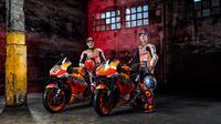 Repsol Honda resmi meluncurkan tunggangan yang akan digunakan Marc Marquez dan Pol Espargaro di MotoGP 2021. (dok. Repsol Honda)