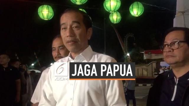 Presiden Jokowi menegaskan pemerintah akan menindak pelaku tindakan anarkis dan rasialis. Jokowi juga mengajak semua pihak untuk menjaga kedamaian di tanah Papua.