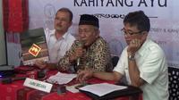 Ketua Seksi Undangan, Ridwan Lubis menyatakan acara ngunduh mantu Jokowi akan digelar dalam dua sesi. (Liputan6.com/Reza Efendi)