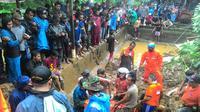 Tanah longsor di Bogor (Liputan6.com/ Achmad Sudarno)