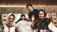 Krisdayanti dan Yuni Shara jenguk Aurel Hermansyah (Sumber: Instagram/attahalilintar)