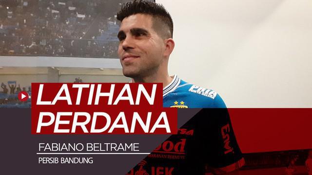 Berita video Fabiano Beltrame mengikuti latihan perdana bersama Persib Bandung di Stadion Gelora Bandung Lautan Api (GBLA), Minggu (24/3/2019).