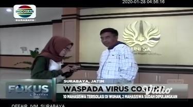 Rektor Universitas Negeri Surabaya (Unesa), Prof. Dr. Nurhasan memastikan kondisi mahasiswa Unesa tersebut dalam keadaan sehat. Selain itu, sudah ada penanganan tersendiri dari kampus kepada mahasiswa Unesa penerima beasiswa Confucius Institute terse...
