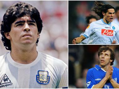 Diego Maradona merupakan salah satu penyerang legendaris yang pernah dimiliki Napoli. Keberhasilan pemain Argentina ini mempersembahkan gelar Juara Serie A membuatnya menjadi spesial bagi publik Naples. Berikut para penyerang top dunia yang pernah membela Napoli.
