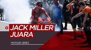 Berita video highlights MotoGP Jerez, Minggu (2/5/21). Jack Miller tercepat sedangkan Fabio Quartararo melorot ke peringkat 13