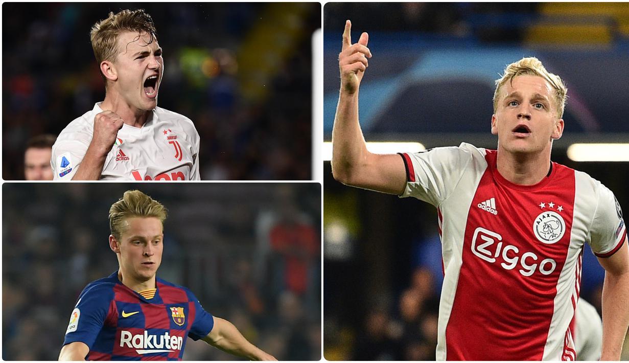 Donny Van De Beek resmi dipinang Manchester United dari Ajax dengan mahar yang cukup tinggi. Selain Van de Beek, ada sejumlah pemain Ajax lainnya yang tercatat memiliki nilai transfer tinggi saat dijual. Berikut Donny Van De Beek dan 5 Pemain Termahal dari Ajax. (kolase foto AFP)
