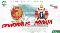 Jadwal Liga 1 2018 pekan ke-15, Sriwijaya FC Vs Persija Jakarta. (Bola.com/Dody Iryawan)