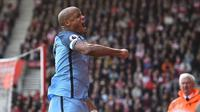 Bek Manchester City asal Belgia, Vincent Kompany. (AFP/Glyn Kirk)