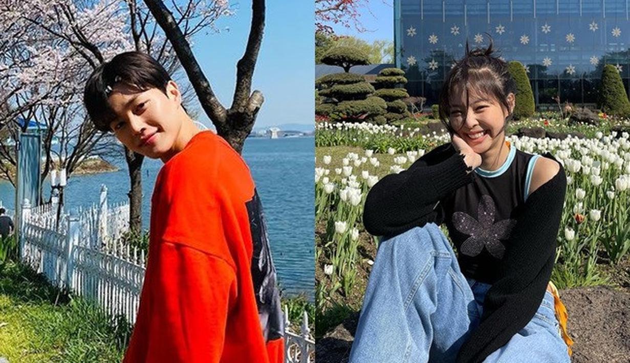 """Jennie dan Song Kang pernah bertemu di variety show """"Village Survival The Eight"""" yang tayang di tahun 2018 dan disiarkan di SBS. (Foto: Instagram/songkang_b - jennierubyjane)"""