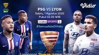Final Piala Liga Prancis PSG Vs Lyon. (Sumber: Vidio)