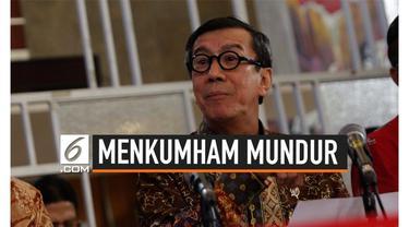 Menteri Hukum dan Hak Asasi Manusia Yasonna Laoly kirim surat pengunduran diri ke Presiden Jokowi. Langkah Yasonna ini diambil untuk menghindari rangkap jabatan.
