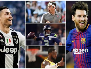 10 Atlet Terkaya di Dunia Tahun 2019
