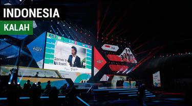 Tim AoV Indonesia menelan kekalahan pada laga perdana eksibisi e-Sports menghadapi Chinese Taipei, Minggu (26/8/2018).