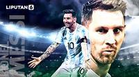 Banner Lionel Messi (Liputan6.com/Abdillah)