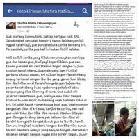 "Gara-gara curhat soal bangku tuk ibu hamil di KRL, kini Shafira Nabila Cahyaningtyas jadi orang yang paling ""diburu"" masyarakat dunia maya. (Foto: Facebook/Eka Aditya)"