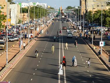 Potret Kesibukan Kota Niamey di Niger