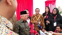 Wakil Presiden RI, KH Ma'ruf Amin, dalam peringatan Hari Disabilitas Internasional 2019 yang berlangsung di Gelora Bung Karno, Senayan, Jakarta. (Foto: Giovani Dio Prasasti/Liputan6)