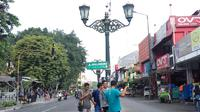 Jalan Malioboro Yogyakarta terus dipercantik (Liputan6.com / Switzy Sabandar)