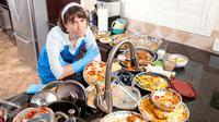 Ilustrasi Dapur Kotor dan Berantakan (iStockphoto)