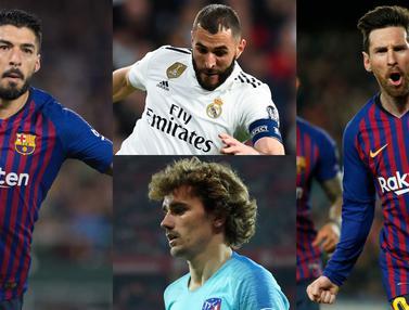 Top Scorer La Liga pekan ke-31