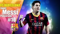 Ilustrasi Lionel Messi (Liputan6.com/Sangaji)