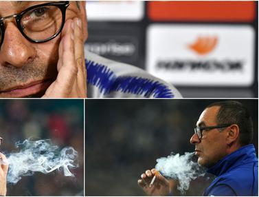 Sarri, Pelatih Juventus Merokok Tiap 12 Menit Hingga Menghabiskan 300 Juta Rupiah