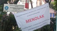 Warga menolak SDN Kampung Rawa 01/02 Johar Baru, Jakarta Pusat menjadi tempat isolasi terkait Corona. (dok warga)