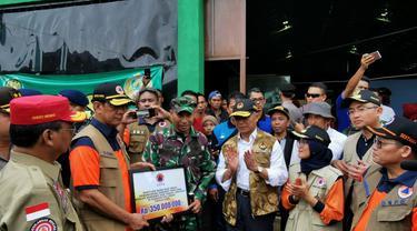 BNPB Sumbang Rp 350 Juta untuk Penanganan Darurat Banjir Bandang di Lebak