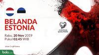 Kualifikasi Piala Eropa 2020 - Belanda Vs Estonia (Bola.com/Adreanus Titus)