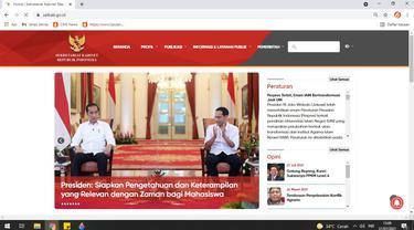 Situs resmi Sekretariat Kabinet, setkab.go.id sudah pulih setelah sempat diretas.