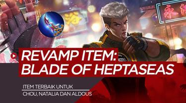Berita motion grafis Blade of Heptaseas, buat damage Chou makin besar di Mobile Legends.
