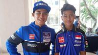 Galang Hendra berabung dengan tim asal Spanyol, The bLU cRU Yamaha WorldSSP Team. (Bola.com/Hendry Wibowo)