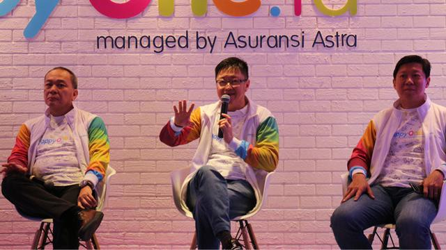 Konferensi pers peluncuran happyOne.id di Thamrin Nine Ballroom, Jakarta Pusat