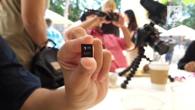Qualcomm Snapdragon 855. (Liputan6.com/ Agustinus Mario Damar)