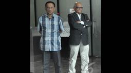 Dorodjatun Kuntjoro Jakti diperiksa KPK terkait penerbitan Surat Keterangan Lunas (SKL) Bantuan Likuiditas Bank Indonesia (BLBI), Jakarta, Jumat (12/12/2014). (Liputan6.com/Miftahul Hayat)