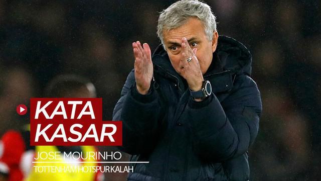 Berita video Manajer Tottenham Hotspur, Jose Mourinho, melontarkan kata kasar setelah timnya kalah dari Southampton pada lanjutan Premier League 2019-2020, Rabu (1/1/2020).
