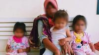 IRT yang mencuri sawit di lahan PTPN V untuk membeli beras bagi tiga anaknya. (Liputan6.com/M Syukur)