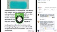 [Cek Fakta] Gambar Tangkapan Layar Plester Kompres Demam