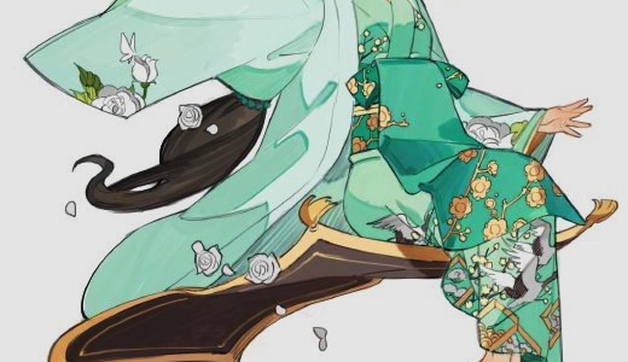begini jika para puteri disney pakai kimono versi jepang