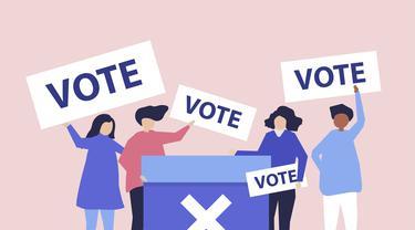 Ilustrasi Kampanye Pemilu Pilkada Pilpres (Freepik/Rawpixel)