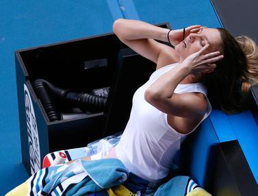Wajah Kecewa Simona Halep Gagal ke Final Australia Terbuka 2020