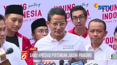 Erick Thohir menilai pertemuan Jokowi dan Prabowo menjadi simbol pembangunan Indonesia.
