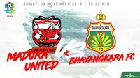 Liga 1 2018 Madura United Vs Bhayangkara FC (Bola.com/Adreanus Titus)