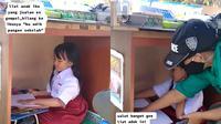 Perjuangan seorang anak menjalani kelas daring (@juragancrok/tiktok.com).