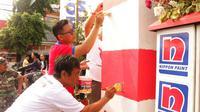 Berikut keunikan 6000 Gapura yang dicat merah putih untuk memeriahkan Hari Kemerdekaan. (Foto: Dok. Nippon)