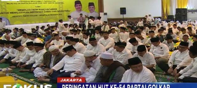 Ketua Umum Golkar Airlangga Hartarto mengatakan setelah kegiatan istighosah akan ada renungan di Taman Makam Kalibata hari ini.