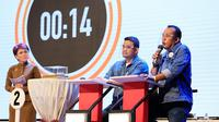 Pasangan Bobby-Aulia dalam debat kandidat putaran kedua Pilkada Medan